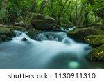 the beautiful waterfall in...   Shutterstock . vector #1130911310