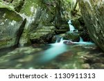 the beautiful waterfall in...   Shutterstock . vector #1130911313