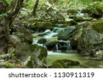 the beautiful waterfall in...   Shutterstock . vector #1130911319