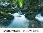 the beautiful waterfall in...   Shutterstock . vector #1130911343