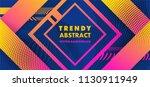 hipster modern geometric... | Shutterstock .eps vector #1130911949