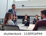 shot of coworkers having a... | Shutterstock . vector #1130916944