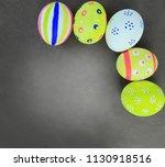 easter egg on black background | Shutterstock . vector #1130918516