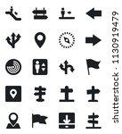 set of vector isolated black... | Shutterstock .eps vector #1130919479