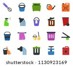 colored vector icon set  ... | Shutterstock .eps vector #1130923169