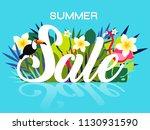 summer sale banner design...   Shutterstock .eps vector #1130931590