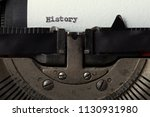 history typed on an old... | Shutterstock . vector #1130931980