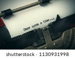 close up of old typewriter... | Shutterstock . vector #1130931998