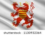 flag of limburg is a province... | Shutterstock . vector #1130932364