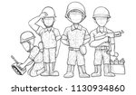 cartoon soldier characters... | Shutterstock .eps vector #1130934860