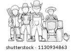 cartoon farmer characters group.... | Shutterstock .eps vector #1130934863