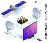 vector tv antenna  realistic... | Shutterstock .eps vector #1130934986