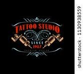 tattoo studio logo design... | Shutterstock .eps vector #1130938559