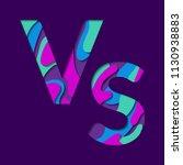 vs versus letters vector logo... | Shutterstock .eps vector #1130938883