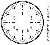 clock face for house  alarm ... | Shutterstock .eps vector #1130942120