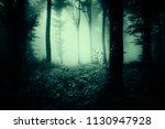 dark scary woods  halloween... | Shutterstock . vector #1130947928