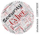 vector conceptual cyber... | Shutterstock .eps vector #1130973059