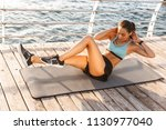 photo of healthy fitness woman... | Shutterstock . vector #1130977040