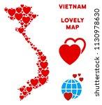 valentine vietnam map collage... | Shutterstock .eps vector #1130978630