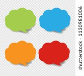 colorful speech bubble... | Shutterstock .eps vector #1130981006