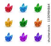 set of magic crystals. crystals ... | Shutterstock .eps vector #1130984864