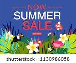 summer sale banner design...   Shutterstock .eps vector #1130986058