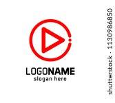 play button logo | Shutterstock .eps vector #1130986850