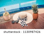 summer holiday concept  fashion ... | Shutterstock . vector #1130987426