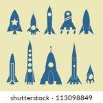 rocket icon | Shutterstock .eps vector #113098849