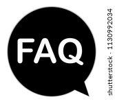 faq icon on white background....
