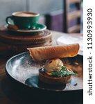dessert tart served with ice... | Shutterstock . vector #1130993930
