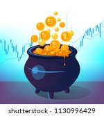 how to earn cryptocurrency... | Shutterstock .eps vector #1130996429