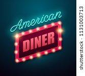 retro light sign. american... | Shutterstock .eps vector #1131003713