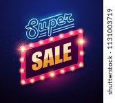 retro light sign. vintage style ... | Shutterstock .eps vector #1131003719