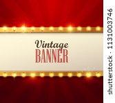 retro light sign. vintage style ... | Shutterstock .eps vector #1131003746
