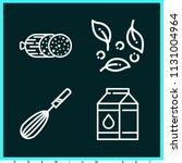 set of 4 food outline icons...   Shutterstock .eps vector #1131004964