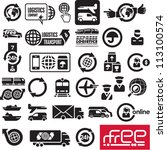 logistics icons. logistic...