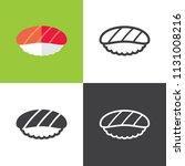 salmon nigiri icons | Shutterstock .eps vector #1131008216