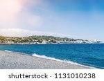 pebble beach and mediterranean...   Shutterstock . vector #1131010238