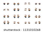 cartoon female eyes. colored... | Shutterstock .eps vector #1131010268