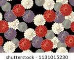 seamless chrysanthemum pattern... | Shutterstock .eps vector #1131015230