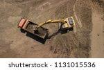 Aerial Photo Of Excavator Pours ...