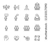 business people icons line...   Shutterstock .eps vector #1131017090