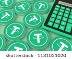 tether.bitcoin. bidding on the... | Shutterstock . vector #1131021020