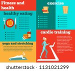 fitness and health flat... | Shutterstock .eps vector #1131021299