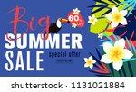 summer sale banner design...   Shutterstock .eps vector #1131021884