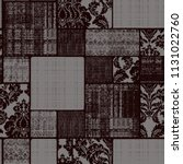 seamless pattern with ethnic... | Shutterstock . vector #1131022760