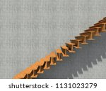 conceptual stair on wall... | Shutterstock . vector #1131023279