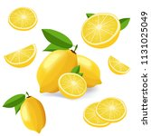 collection of lemon fruits... | Shutterstock .eps vector #1131025049