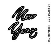 happy new year lettering... | Shutterstock .eps vector #1131025619